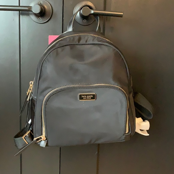 Kate spade small back pack in black